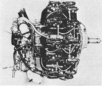 Photograph of Japanese Sakae 12 aircraft engine