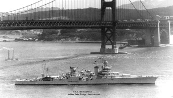 Photograph of Golden Gate with San Francisco in the background