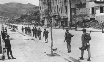Photograph of Sasebo during the American occupation operation