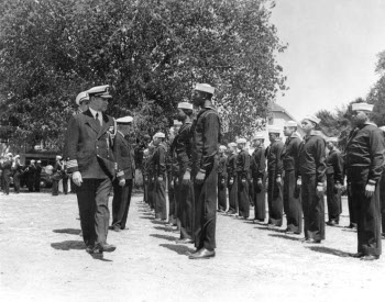 Photograph of African-American sailors training at the Service School