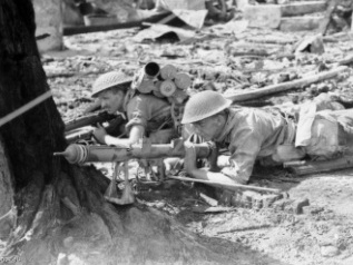 Photograph of Australian soldier with PIAT