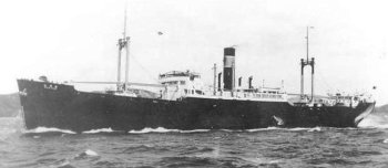 Photograph of repair ship Shoei Maru prior to conversion