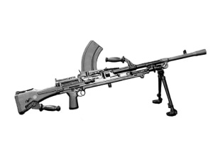 Photograph of Bren machine gun