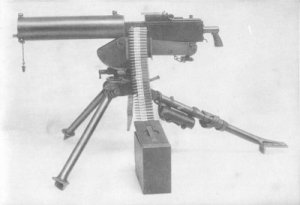 Photograph of watercooled 0.30 Browning machine gun