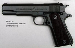 Photograph of Colt semiautomatic pistol