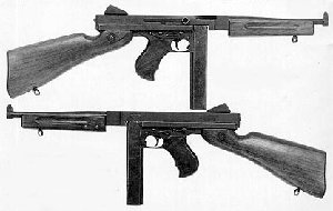 Photograph of Thompson submachine gun