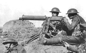 Photograph of Vickers machine gun
