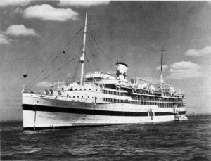 Photograph of hospital ship Solace