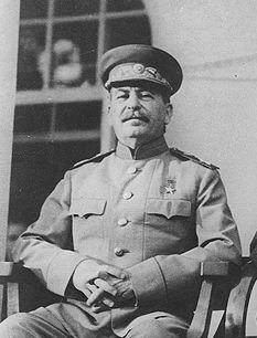 Photograph of Stalin at the Teheran Conference