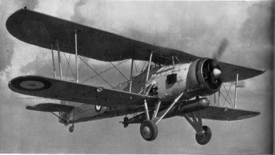 Photograph of Fairey Swordfish torpedo bomber