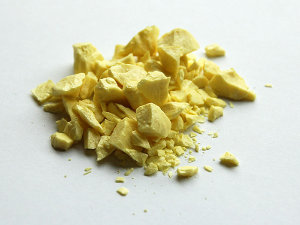 Photograph of sulfur
