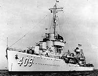 Photograph of Sims class destroyer