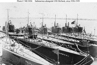 Photograph of a nest of submarines