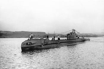 Photograph of T3-class submarine