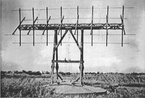 Photograph of Tachi-3 radar transmitter antenna