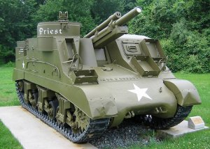 Photograph of M7 Priest self-propelled artillery