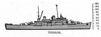 Schematic diagram of Terror class minelayer