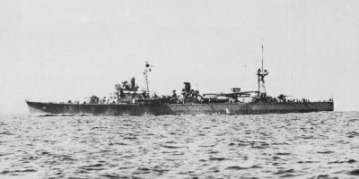 Photograph of Japanese minelayer Tsugaru