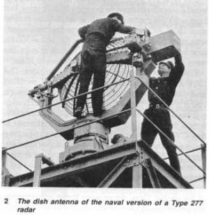 Photograph of Type 277 surface search radar