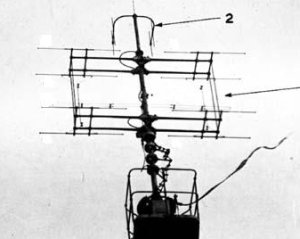 Photograph of Type 281 radar antenna