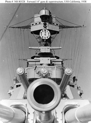 "Photograph of 14""/50 gun turrets"