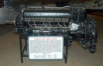 Photograph of V-1650 Packard-Merlin engine