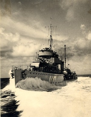 Photograph of Dutch destroyer Van Galen