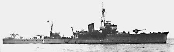 Photograph of W-18, a W-17 class fast minesweeper