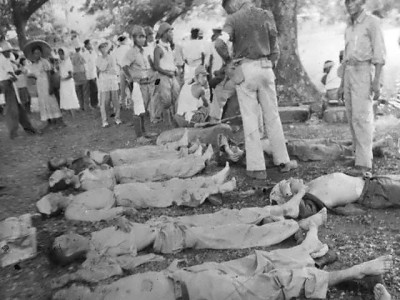 Photograph of Bataan Death March victims