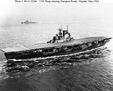 Photograph of U.S.S.           Wasp