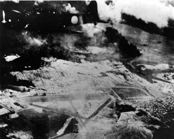 Photograph of Wheeler Field during Pearl Harbor attack
