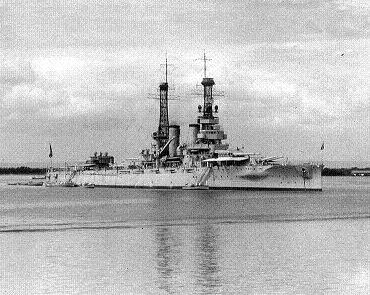 Photograph of battleship Arkansas
