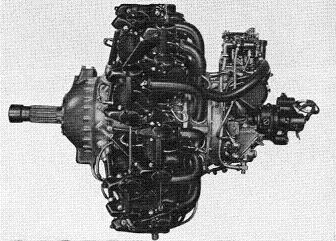 Photograph of Japanese Zuisei 13 aircraft engine